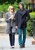 Non-Exclusive<br /> 2012 May 3 - Emma Stone and Andrew Garfield giggle at the paps while out and about in NYC. Photo Credit Jackson Lee