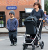Non-Exclusive<br /> 2012 May 4 - Peter Dinklage, Erica Schmidt take a stroll with baby in stroller in NYC. Photo Credit Jackson Lee