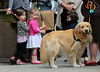 Non-Exclusive<br /> 2012 May 4 - Marion and Tabitha Broderick play with a neighbor's dog in NYC. Photo Credit Jackson Lee