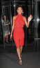 Non-Exclusive<br /> 2012 May 23 - Nicole Scherzinger arrives at the NY Premiere of 'Men in Black 3' in a dazzling red dress. Photo Credit Jackson Lee