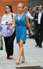 Non-Exclusive<br /> 2012 June 5 - Kendra Wilkinson out and about in NYC wearing two different outfits, one blue, one green. Photo Credit Jackson Lee