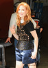 Non-Exclusive<br /> 2012 June 7 - Jessica Chastain is all smiles when coming out of the Kelly Show in NYC. Photo Credit Jackson Lee