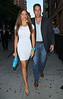 Non-Exclusive<br /> 2012 June 7 - Sofia Vergara reunites with ex Nick Loeb walking hand-in-hand into a Whip nightclub in NYC. Photo Credit Jackson Lee