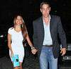 Non-Exclusive<br /> 2012 June 7 - Sofia Vergara reunites with ex Nick Loeb walking hand-in-hand into a restaurant in NYC. Photo Credit Jackson Lee