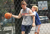 Non-Exclusive<br /> 2012 June 22 - Ethan Hawke plays basketball with son Levon Roan Thurman-Hawke in the West Village, NYC. Photo Credit Jackson Lee