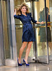 Non-Exclusive<br /> 2012 June 22 - Heidi Klum's hair gets caught in the revolving door when filming a commercial in NYC. Photo Credit Jackson Lee