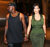 Non-Exclusive<br /> 2012 July 30 - Kim Kardashian and Kanye West have dinner at Nobu with Jonathan Cheban in NYC. Photo Credit Jackson Lee