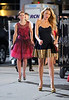 Non-Exclusive<br /> 2012 Aug 2 - Blake Lively and Leighton Meester on location for 'Gossip Girl' in NYC'. Photo Credit Jackson Lee
