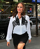 Non-Exclusive<br /> 2012 Aug 14 - Jennifer Garner wearing a white blouse out and about in NYC. Photo Credit Jackson Lee