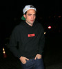 Non-Exclusive<br /> 2012 Aug 14 - Robert Pattinson looks glassy-eyed when coming out of the Soho House after partying it up there in NYC. Photo Credit Jackson Lee