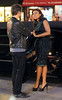 Non-Exclusive<br /> 2012 Aug 17 - Jennifer Hudson receives a kiss from a guy on the set of 'Smash' in NYC. Photo Credit Jackson Lee