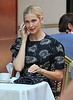 Non-Exclusive<br /> 2012 Aug 17 - Kelly Rutherford films a scene with a co-star for 'Gossip Girl' in NYC. Photo Credit Jackson Lee