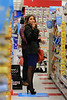 Non-Exclusive<br /> 2012 Sept 26 - Sofia Vergara munches on Rold's Gold Honey Wheat Pretzels when shopping at Duane Reade in NYC. Photo Credit Jackson Lee