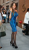 Non-Exclusive<br /> 2012 Sept 26 - Sofia Vergara looks stunning in a blue snake print one shoulder mini dress when going to 'The Chew' in NYC. Photo Credit Jackson Lee