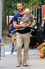 Non-Exclusive<br /> 2012 Oct 3 - Liev Schreiber and his sons Alexander and Samuel to pumpkin pick in NYC after school  Photo Credit Jackson Lee