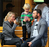 Non-Exclusive<br /> 2012 Oct 10 - Naomi Watts and Liev Schreiber take their kids Alexander and Samuel to the kiddie park in NYC. Photo Credit Jackson Lee