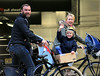 Non-Exclusive<br /> 2012 Oct 12 - Liev Schreiber, Naomi Watts, and Samuel Schreiber wave to the paps while riding their bikes in NYC. Photo Credit Jackson Lee