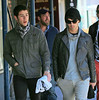 Non-Exclusive<br /> 2012 Oct 13 - Joe Jonas and Kevin Jonas out and about in NYC. Photo Credit Jackson Lee