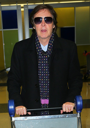 Non-Exclusive<br /> 2012 Oct 19 - Paul McCartney arrives at JFK airport in NYC. Photo Credit Jackson Lee
