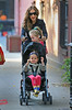 Non-Exclusive<br /> 2012 Oct 23 - Sarah Jessica Parker takes twins Marion and Tabitha, and son James Wilkie Broderick to school in NYC. Photo Credit Jackson Lee