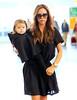 Non-Exclusive<br /> 2012 Oct 23 - Victoria Beckham and Harper Beckham depart JFK airport in NYC. Photo Credit Jackson Lee