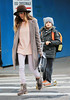Non-Exclusive<br /> 2012 Nov 5- Sarah Jessica Parker and James Wilkie Broderick go to school in NYC. Photo Credit Jackson Lee