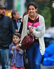 Non-Exclusive<br /> 2012 Nov 11 - Katie Holmes and Suri Cruise make similar expressions when going for ice cream in NYC. Photo Credit Jackson Lee
