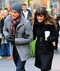 Non-Exclusive<br /> 2012 Nov 18 - Lea Michele pictured with new love interest Dean Geyer on location for 'Glee' in NYC. Photo Credit Jackson Lee