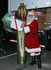 Non-Exclusive<br /> 2012 Dec 1 - Heidi Klum dressed as Cleopatra poses with Santa and toys destined for Sandy victims in NYC. Photo Credit Jackson Lee