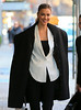 Non-Exclusive<br /> 2012 Dec 14 - Irina Shayk is all smiles when out and about in a fantastic outfit in NYC. Photo Credit Jackson Lee