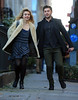 Non-Exclusive<br /> 2013 Jan 6 - Zac Efron and Imogen Poots run hand-in-hand on the set of 'Are We Officially Dating' in NYC. Photo Credit Jackson Lee