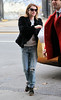 Non-Exclusive<br /> 2013 Jan 9 - Emma Roberts goes to Balthazar in NYC. Photo Credit Jackson Lee