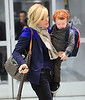 Non-Exclusive<br /> 2013 Jan 28 - Jane Krakowski and son Bennett Godley arrive at JFK Airport in NYC. Photo Credit Jackson Lee