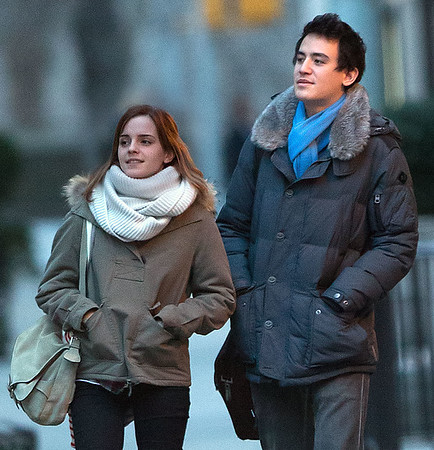 Non-Exclusive<br /> 2013 Feb 16 - Emma Watson and Will Adamowicz take a romantic stroll in NYC. Photo Credit Jackson Lee