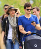 Exclusive<br /> 2011 May 1 - Orlando Bloom and Miranda Kerr take a romantic walk on the Highline with baby Flynn in stroller in NYC. Photo Credit Jackson Lee