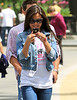 Non-Exclusive<br /> 2011 May 1 - Vanessa Minnillo plays with her phone with Nick Lachey in Madison Square Park, NY. Photo Credit Jackson Lee