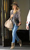 Non-Exclusive<br /> 2011 May 2 - Jason Statham and Rosie Huntington-Whiteley out and about in NYC. Photo credit Jackson Lee