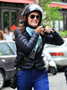 2011 May 13 - Brooke Shields plays in a park with her kids Rowan Frances and Grier Hammond, then rides off in a Piaggio MP3 three-wheel scooter in NYC. Photo Credit Jackson Lee