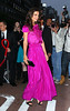 2011 May 23 - Katie Holmes looks dazzling when she steps out in a fuschia dress in NYC. Photo Credit Jackson Lee