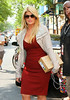 2011 May 26 - Kirstie Alley looks svelte in a red dress at Wendy Williams show in NYC. Photo Credit Jackson Lee