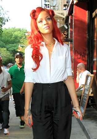 Non-Exclusive<br /> May 27 - Rihanna out and about in NYC. Photo Credit Jackson Lee