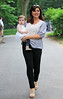 Non-Exclusive<br /> 2011 June 1 - Tiffani-Amber Thiessen takes baby Harper Renn to Central Park in NYC . Photo Credit Jackson Lee