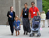 NON-EXCLUSIVE<br /> 2011 June 4 - Cash Warren smiles in excitement when pushing Honor Marie Warren in the stroller alongside Jessica Alba while walking around Yale University campus in NYC. Photo Credit Jackson Lee