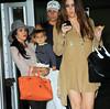 NON-EXCLUSIVE<br /> 2011 June 7 - Kourtney Kardashian, Khloe Kardashian, Mason Disick, Scott Disick arrive at JFK Airport in NYC.  Photo Credit Jackson Lee