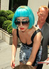 NON-EXCLUSIVE<br /> 2011 June 7 - Lady Gaga arrives at Sirius Satellite Radio studios with some kind of marker writing on her arm in NYC. Photo Credit Jackson Lee