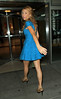 NON-EXCLUSIVE<br /> 2011 June 14 - Blake Lively shows her gams in a lovely blue dress at Regis and Kelly in NYC. Photo Credit Jackson Lee