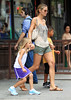 Non-Exclusive<br /> 2011 June 21 - Heidi Klum takes Leni and Henri to 'Halloween Adventure' in NYC. Photo Credit Jackson Lee