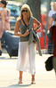 "EXCLUSIVE<br /> 2011 June 21 - Jennifer Aniston ""sheer"" knows how to strut her stuff as she takes a walk in NYC. The actress looks very relaxed as she walks around in a see-thru skirt on the longest day of the year and official start of summer in NYC. Photo Credit Jackson Lee"