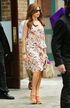 NON-EXCLUSIVE<br /> 2011 June 23 - Eva Mendes out and about in NYC. Photo Credit Jackson Lee