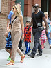 NON-EXCLUSIVE<br /> 2011 June 23 - Heidi Klum and Seal go to lunch with their kids Leni, Henry and Johan in NYC. Photo Credit Jackson Lee